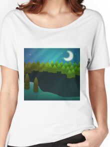 Abstract winter forest Women's Relaxed Fit T-Shirt