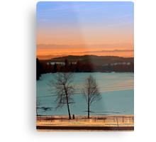 Colorful winter wonderland sundown VI | landscape photography Metal Print