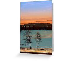 Colorful winter wonderland sundown VI | landscape photography Greeting Card