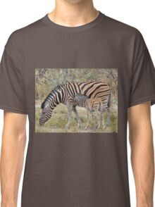 Zebra - African Wildlife - Paired up for Life Classic T-Shirt