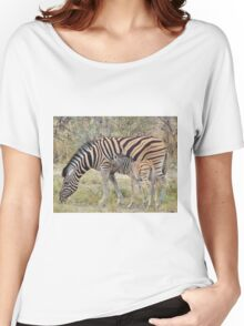 Zebra - African Wildlife - Paired up for Life Women's Relaxed Fit T-Shirt
