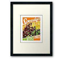 SPEEDY'S RETRO RIDES V.03 / GRAPHIC POSTER  Framed Print