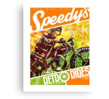 SPEEDY'S RETRO RIDES V.03 / GRAPHIC POSTER  Canvas Print