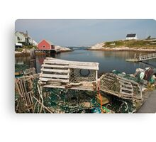 Peggy's cove through a lobster trap Canvas Print