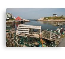 Peggy's cove through a lobster trap Canvas Print