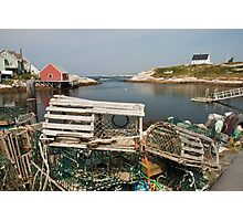 Peggy's cove through a lobster trap Photographic Print