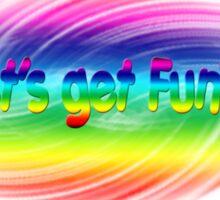 Let's get funky Sticker