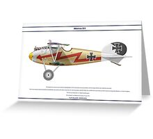 Albatros D.V Jasta 17 - 3 Greeting Card