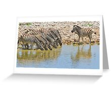 Zebra - African Wildlife - Lined up for Life Greeting Card