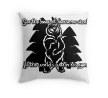 Bear Beam Rhyme - Shardik Throw Pillow