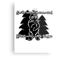 Bear Beam Rhyme - Shardik Metal Print