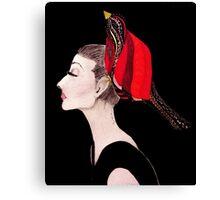 Red Bird Ink Canvas Print