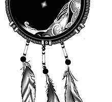 Moon and Stars Dream Catcher  by wildwildwest
