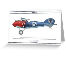 Albatros D.V Jasta 18 - 1 Greeting Card