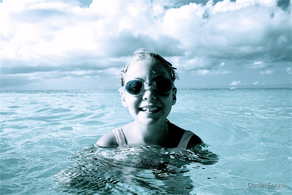 Young girl with goggles by Daniel Sorine