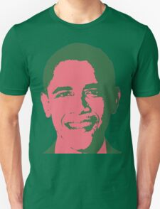 Graphic Obama Face in Pink and Green Unisex T-Shirt