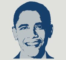 Great Graphic Barack Obama in Blue by Greenbaby