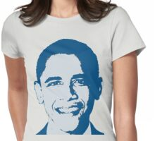 Great Graphic Barack Obama in Blue Womens Fitted T-Shirt