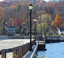Centerport Bridge in the Fall by Gilda Axelrod