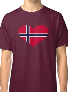 Norway flag heart Classic T-Shirt
