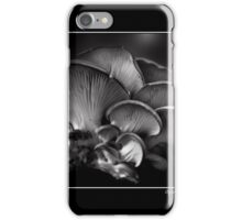 Oyster Mushroom Monochrome Poster iPhone Case/Skin