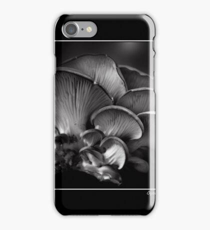 Oyster Mushroom Monochrome Poster iPhone Case/Skin
