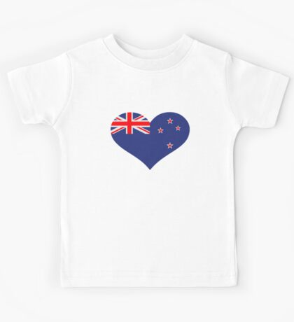 New Zealand heart flag Kids Tee
