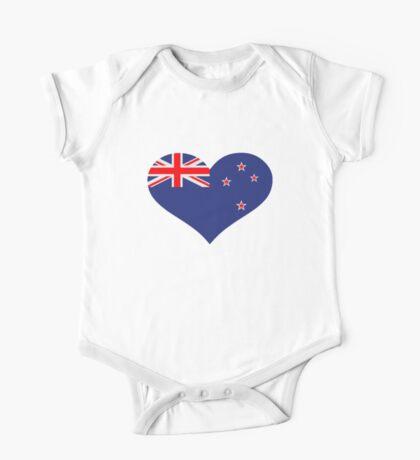 New Zealand heart flag One Piece - Short Sleeve