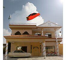 Pakistani Starfleet Commander Sohail Mohammad finally lands at Mamoon Wadi's House Photographic Print