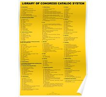 Library of Congress Catalog System - Top Two Levels Poster