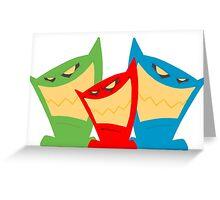 Triple Threat Greeting Card