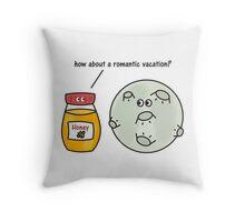 Honey + Moon = Honeymoon Throw Pillow