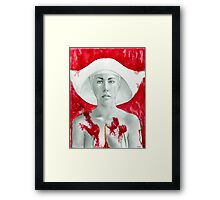 My name isn't Offred  Framed Print