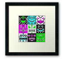 square monster pattern punk Framed Print