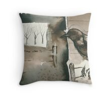 your breath hung in the air Throw Pillow
