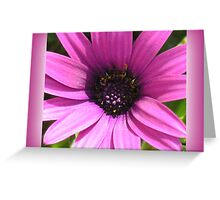 Flower Hearts - Hot Pink Greeting Card