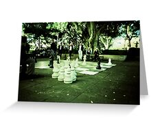 Street Chess Greeting Card