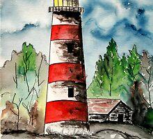 Sapelo Island Lighthouse 4 by derekmccrea