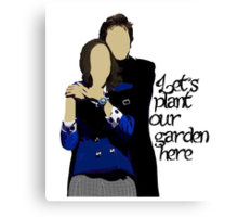 Heathers Plant Our Garden Canvas Print