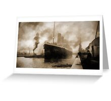 Titanic the Ship of Dreams Greeting Card