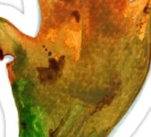 Scrub Oak in Fall Sticker