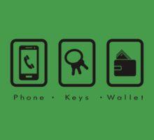 PKW- Phone Keys Wallet Check - dark by SeenB4Dzigns