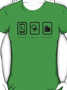 PKW- Phone Keys Wallet Check - dark T-Shirt