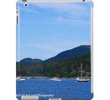 Maine - Boats and Cadillac Mountain iPad Case/Skin