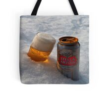 Beer in the snow Tote Bag