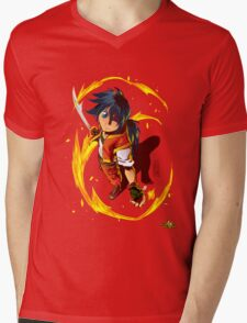 HEART OF WILDFIRE - Sahn Lamarey Mens V-Neck T-Shirt