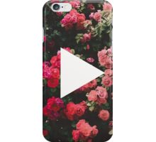 YouTube Logo - Red Floral Background iPhone Case/Skin