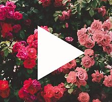 YouTube Logo - Red Floral Background by chloeambercat