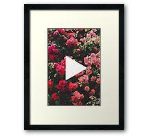 YouTube Logo - Red Floral Background Framed Print