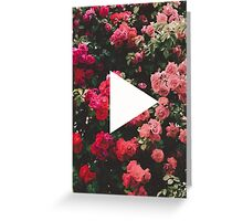 YouTube Logo - Red Floral Background Greeting Card